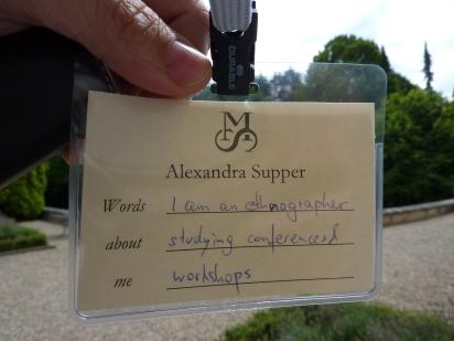Alexandra Supper ethnographer badge
